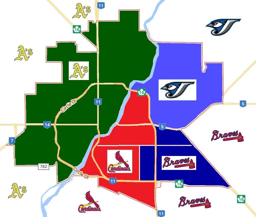 Baseball Saskatoon Zones